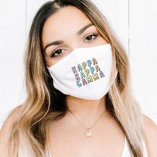 Kappa Kappa Gamma Cartoon Print Face Mask