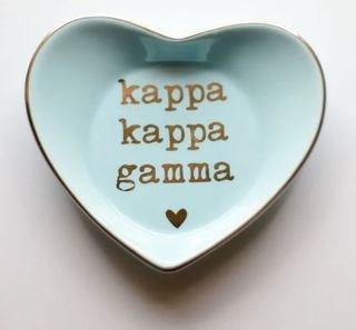 Kappa Kappa Gamma Ceramic Ring Dish