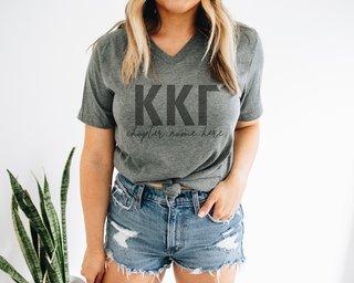 Kappa Kappa Gamma Chapter V-Neck Tee