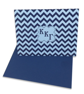 Kappa Kappa Gamma Chevron Note Cards w/ Envelopes (10)