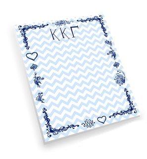 Kappa Kappa Gamma Chevron Notepad
