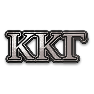 Kappa Kappa Gamma Chrome Car Emblem!