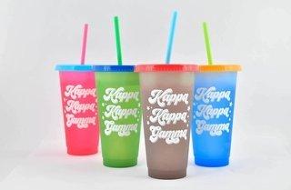 Kappa Kappa Gamma Color Changing Cups (Set of 4)