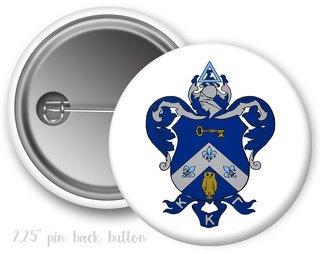 Kappa Kappa Gamma Color Crest - Shield Button