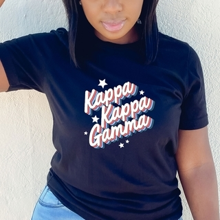 Kappa Kappa Gamma Comfort Colors Flashback Tee
