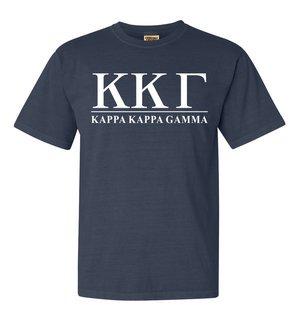 Kappa Kappa Gamma Comfort Colors Heavyweight T-Shirt