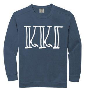 Kappa Kappa Gamma Comfort Colors Greek Crewneck Sweatshirt