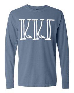 Kappa Kappa Gamma Comfort Colors Greek Long Sleeve T-Shirt