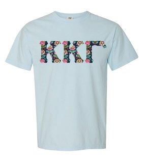Kappa Kappa Gamma Comfort Colors Lettered Greek Short Sleeve T-Shirt
