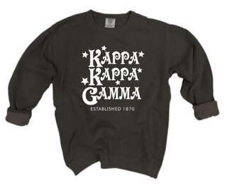 Kappa Kappa Gamma Comfort Colors Old School Custom Crew