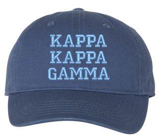 Kappa Kappa Gamma Comfort Colors Pigment Dyed Baseball Cap