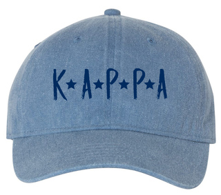 Kappa Kappa Gamma Comfort Colors Starry Night Pigment Dyed Baseball Cap