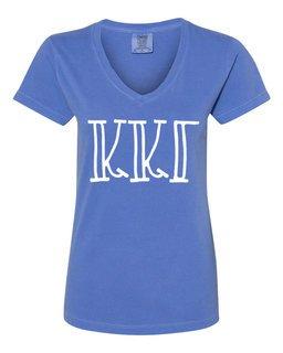 Kappa Kappa Gamma Comfort Colors V-Neck T-Shirt