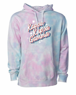 Kappa Kappa Gamma Cotton Candy Tie-Dyed Hoodie