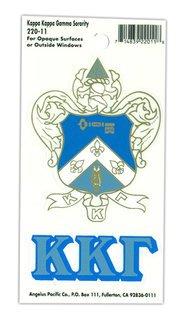 Kappa Kappa Gamma Crest - Shield Decals