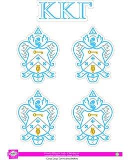 Kappa Kappa Gamma Crest Sticker Sheet