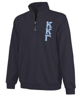 Kappa Kappa Gamma Crosswind Quarter Zip Twill Lettered Sweatshirt