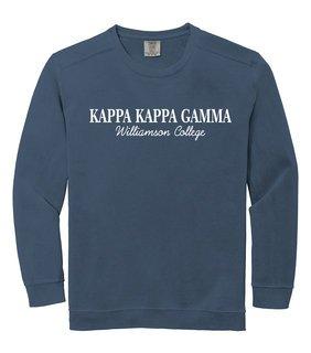 Kappa Kappa Gamma Script Comfort Colors Greek Crewneck Sweatshirt