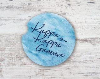 Kappa Kappa Gamma Sandstone Car Cup Holder Coaster