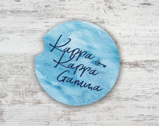 Kappa Kappa Gamma Sandstone Car Cup Holder Coaster