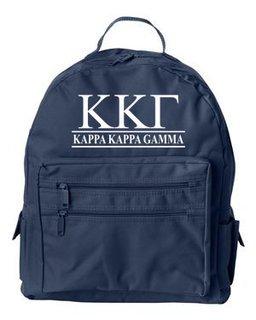 Kappa Kappa Gamma Custom Text Backpack