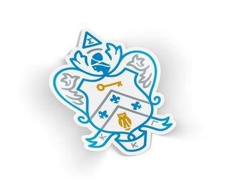 Kappa Kappa Gamma Die Cut Crest Sticker