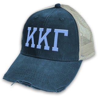 Kappa Kappa Gamma Distressed Trucker Hat