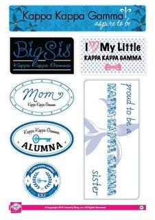 Kappa Kappa Gamma Family Sticker Sheet