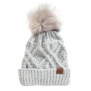 Kappa Kappa Gamma Faux Fur Pom Beanie Hat
