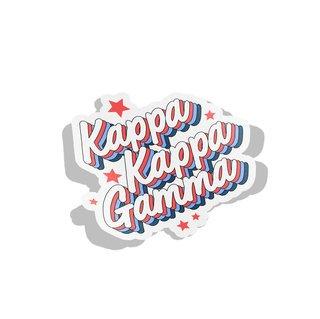 Kappa Kappa Gamma Flashback Decal Sticker