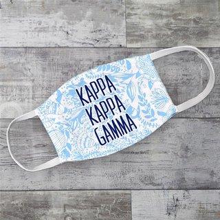 Kappa Kappa Gamma Floral Face Mask