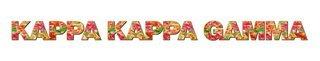 "Kappa Kappa Gamma Floral Long Window Sticker - 15"" long"