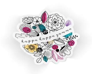 Kappa Kappa Gamma Flower Sticker