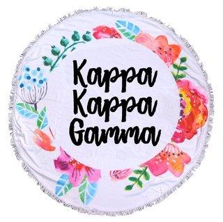 Kappa Kappa Gamma Fringe Towel Blanket