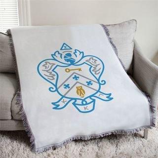 Kappa Kappa Gamma Full Color Crest Afghan Blanket Throw