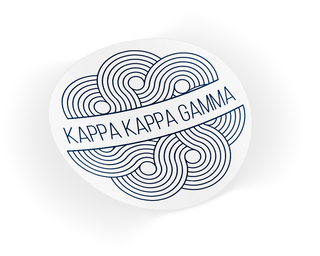 Kappa Kappa Gamma Geo Scroll Sticker Sticker