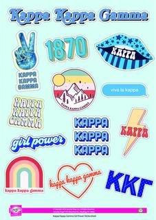 Kappa Kappa Gamma Girl Power Stickers