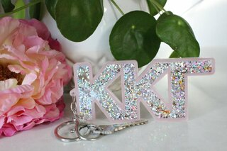 Kappa Kappa Gamma Glitter Keychain