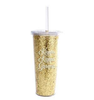 Kappa Kappa Gamma Glitter Tumblers