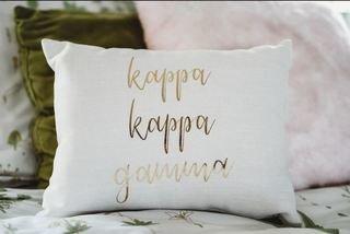 Kappa Kappa Gamma Gold Imprint Throw Pillow