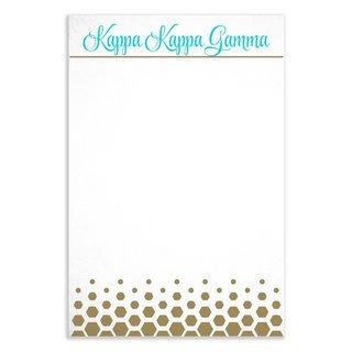 Kappa Kappa Gamma Gold Notepads