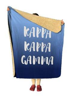 Kappa Kappa Gamma Gradient Sherpa Lap Blanket