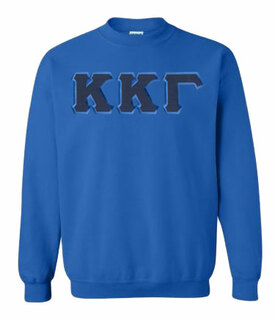 Kappa Kappa Gamma Greek Crewneck- MADE FAST!