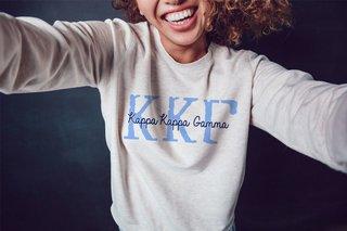 Kappa Kappa Gamma Greek Type Crewneck Sweatshirt