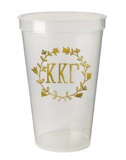 Kappa Kappa Gamma Greek Wreath Giant Plastic Cup