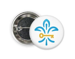Kappa Kappa Gamma Fleurde Key Button