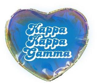 Kappa Kappa Gamma Heart Shaped Makeup Bag
