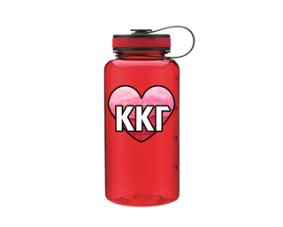 Kappa Kappa Gamma Heart Wide Mouth Water Bottle