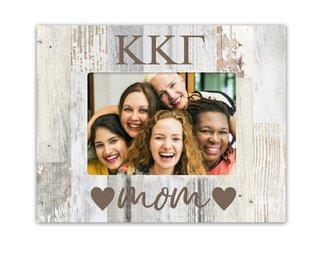 Kappa Kappa Gamma Hearts Faux Wood Picture Frame