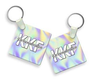 Kappa Kappa Gamma Holla Square Keychain